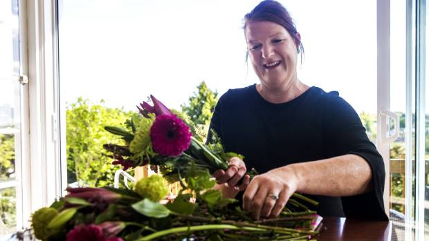 Timaru woman Alisha Martin has found working with flowers has been beneficial to her mental health.