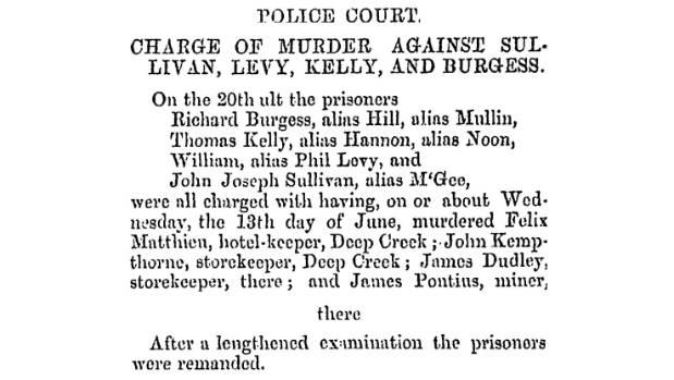 Wellington Independent newspaper July 14, 1866.