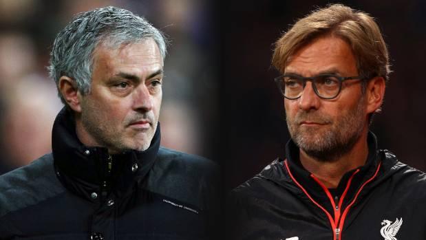 Jose Mourinho's Manchester United take on Jurgen Klopp's LIverpool on Sunday (NZ time).