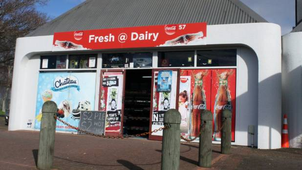 The Fresh Dairy on Fenton St where Tyson Hughes-Turuta assaulted the owner, and stole $2 worth of lollies.