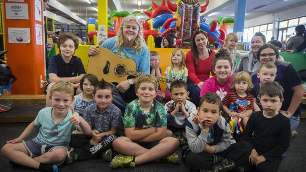 The Wonky Donkey creator Craig Smith entertained children at Rumpus Room in New Plymouth on Friday.