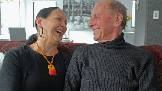 Gaye and Willem Bessem enjoy the comfort of their own home.
