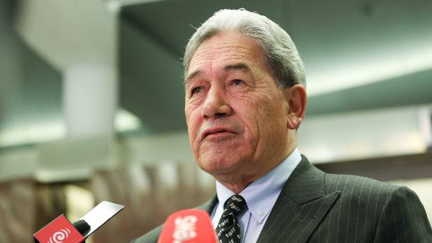 "Winston Peters and his ""TGIF"" tie."