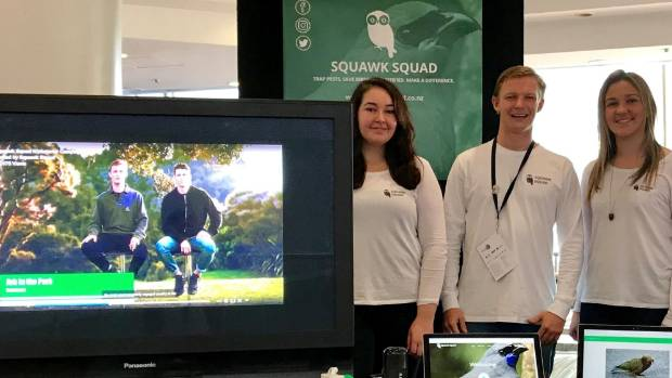 Squawk Squad co-founders Odette Colebrook, Fraser McConnell and Racheal Herlihy.
