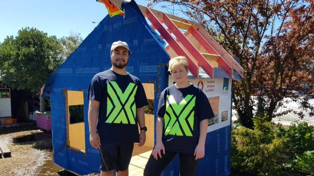 Paora Smallman and Briar Hickling are showcasing their tiny house idea that will employ youth in Taumarunui.