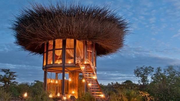 Safe from wildlife high above the ground, the new Nay Palad Bird Nest Villa at the Segera Retreat in Kenya is an exotic ...