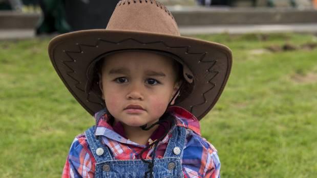 Leo Millar-Rogers dressed up in cowboy gear.