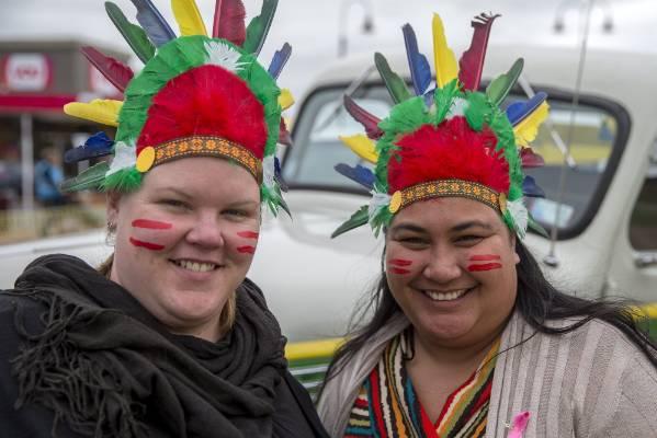 Sarah Duncan and Veronica Antonovich in costume.