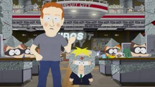 Facebook's Mark Zuckerberg is among the targets in South Park's latest episode