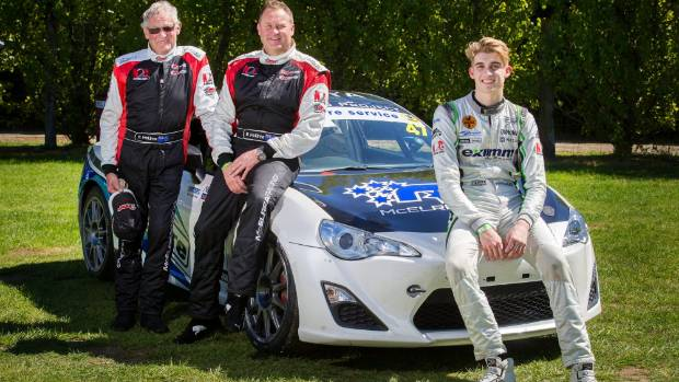 Rod, left, Andy and Hunter McElrea are competing in the three-hour endurance race this weekend and in doing so will ...