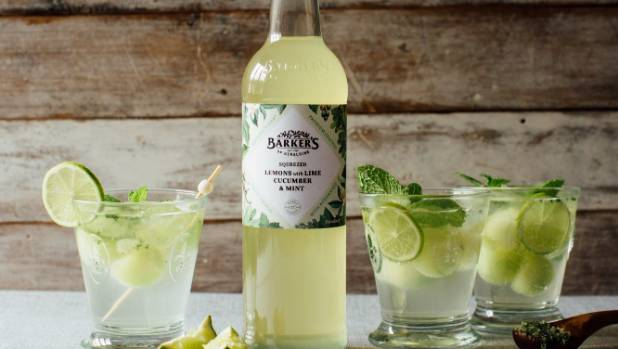The Squeezed Lemons with Lime, Cucumber and Mint goes well with sparkling water and in margaritas.
