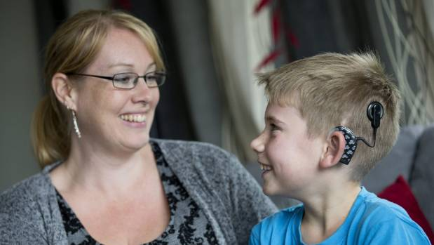 Kate Whale says deaf son James would struggle in an open-plan classroom.