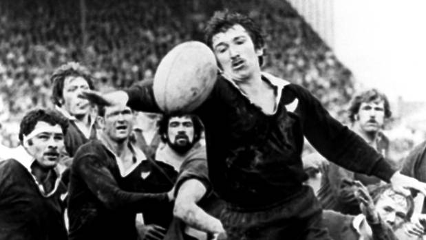 All Black Tane Norton with the ball against the Lions in 1977.