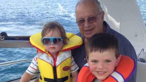 Nick Calavrias with grandchildren Dimitri, left, and Zack.
