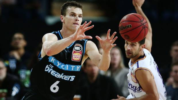 Kirk Penney caught fire in the first half for the Breakers.