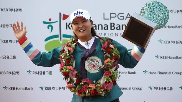 Angel Yin takes 2nd round lead at KEB Hana Bank Championship