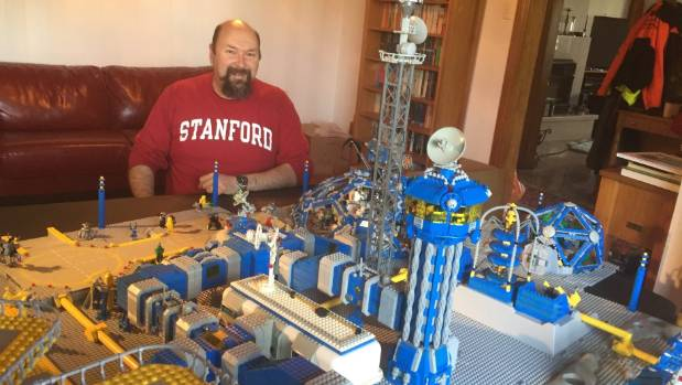 Lego collector displays space-themed models for Auckland expo ...
