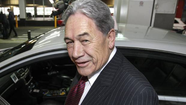 NZ First leader Winston Peters arrives at Wellington airport on Monday morning to meet with his board as coalition talks