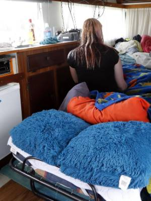 Cindy is living with her two sons in a borrowed caravan at the Tahuna Beach Kiwi Holiday Park while trying to get a ...
