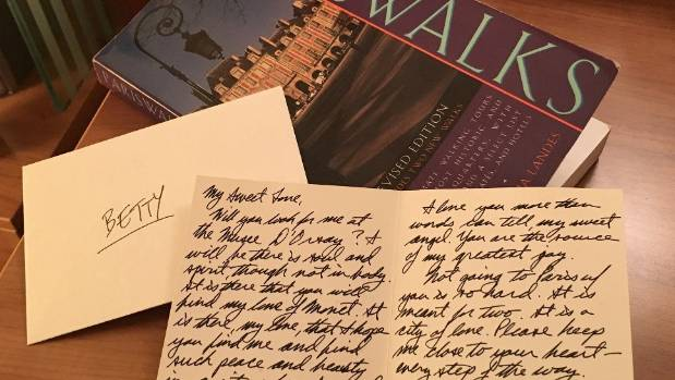 A love letter fell out of an old paris guidebook and set a