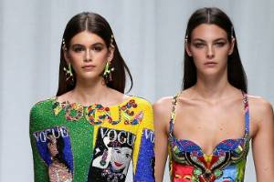 Schoolgirl hair was all the rage at Versace's recent Spring/Summer show in Milan.