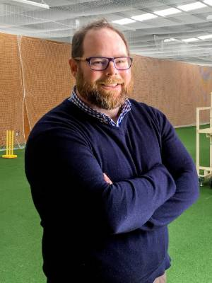 Horowhenua Kāpiti Cricket Association chief executive Dave O'Brien in the Basil Netten Centre at Donnelly Park, Levin.