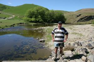 David Smith on Mt Watkins' boundary on the north branch of the Waikouaiti River, which runs through the middle of the ...