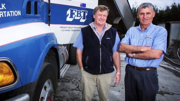 FBT freight company bosses Malcolm Campbell and John Geraghty.