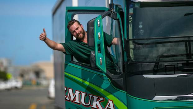 A shortage of truck drivers is a nation-wide issue, industry leaders say. Pictured: Temuka driver Johnny Baxter.