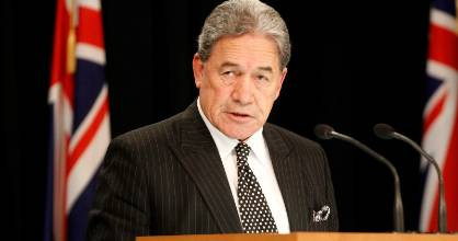 Winston Peters said he did not want to be blamed for a looming economic downturn.