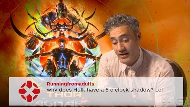 Taika Waititi jokes about internet comments on Thor: Ragnarok