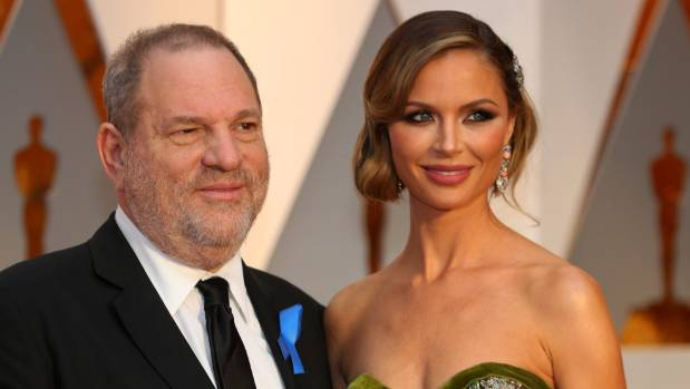 Harvey Weinstein and wife Georgina Chapman ararrive at the 89th Academy Awards in Hollywood. — Photograph: Reuters.