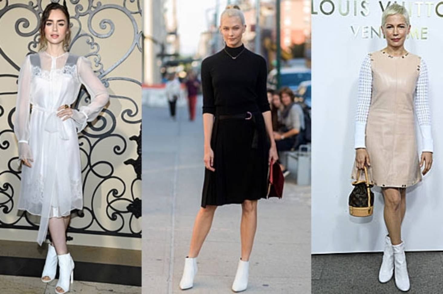 white boots dress