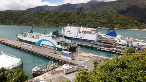 The Bluebridge and Interislander ferries, seen here in Picton, both take about three hours to cross the often violent ...