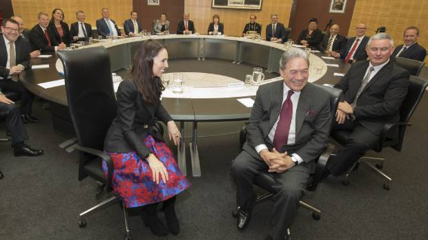 Prime Minister Jacinda Ardern And Her New Cabinet Colleagues.