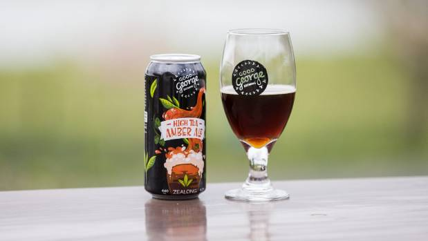 The High Tea Amber Ale combines Good George beer with Zealong's oolong and black teas.