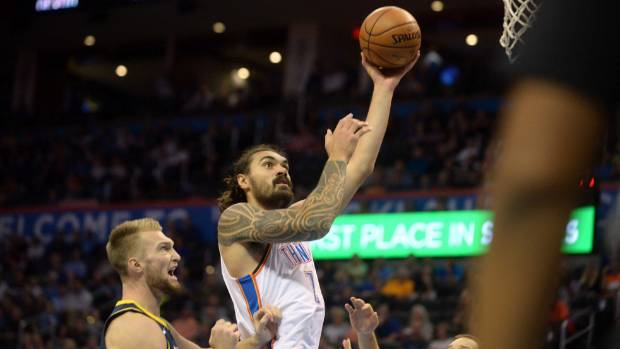 New Zealand's Steven Adams has found some solid scoring form for the Oklahoma City Thunder in the NBA
