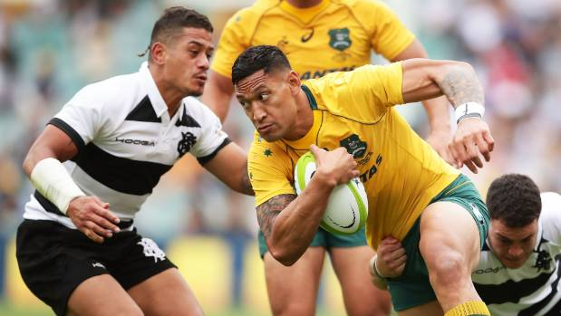 Israel Folau, who is of Tongan descent, is a finalist for the World Rugby player of the year award.