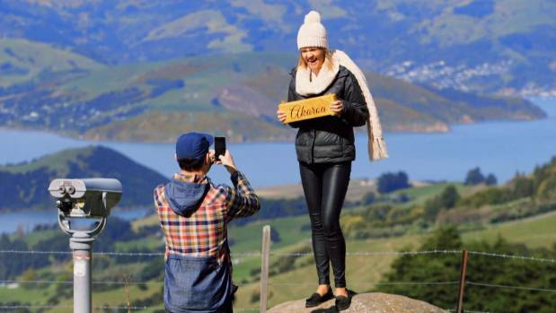 Brett Renall and and wife Angel from Married at First Sight New Zealand on Banks Peninsula.