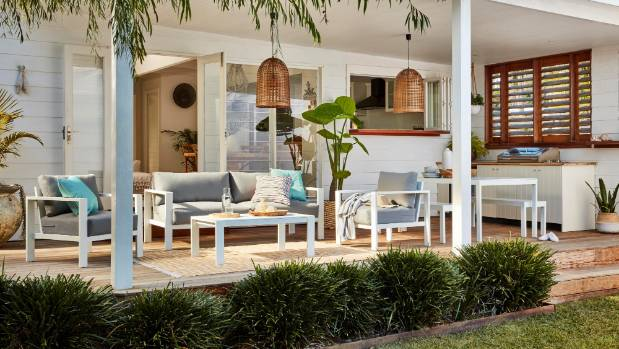The best outdoor rooms have flow to the indoors and all the comforts needed  for entertaining