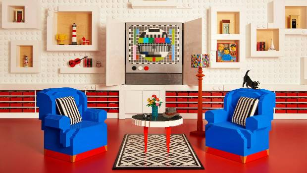See Inside! This Apartment Is Made Entirely of LEGO Bricks