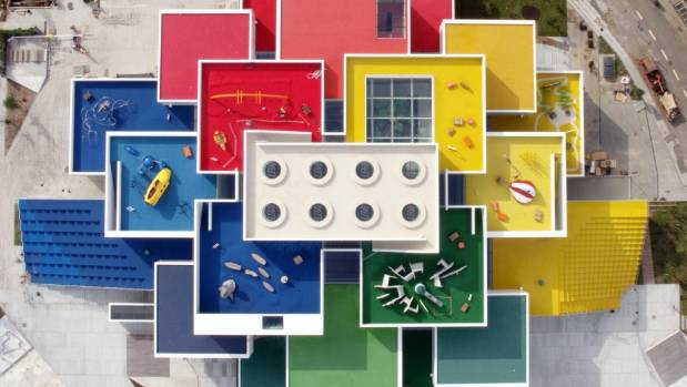 The Lego House will host a family for an overnight stay