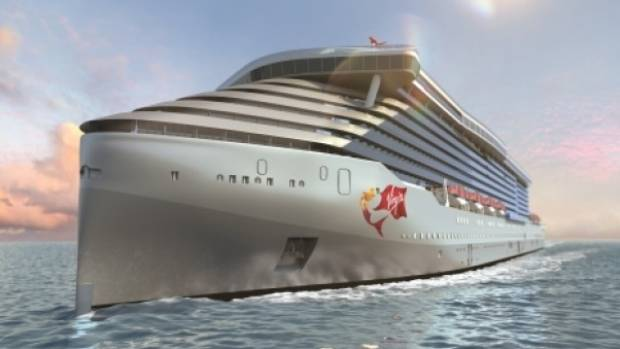 Richard Branson Unveils Virgins And The Worlds First - Cruise ship trouble