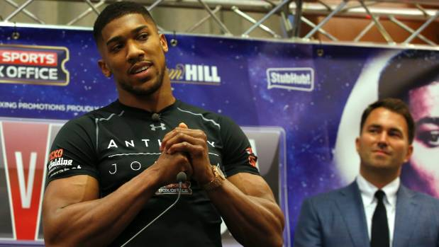 Anthony Joshua enjoys a game of beach volleyball in Dubai
