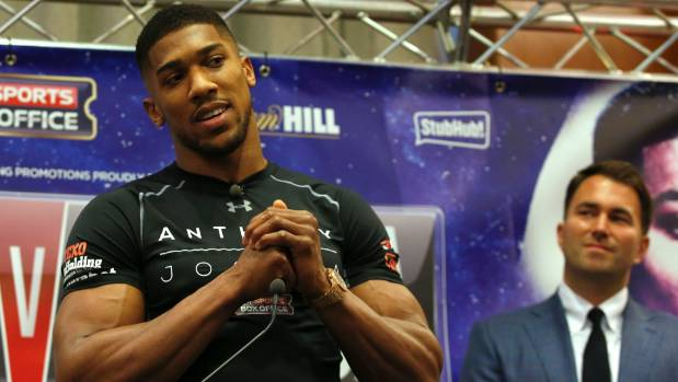 Anthony Joshua has a glass jaw, suggests Joseph Parker's promoter