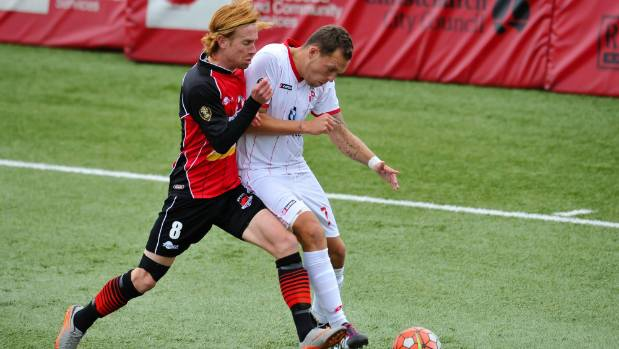 The loss of former All White Aaron Clapham, left, leaves a gaping hole in the Canterbury United midfield.