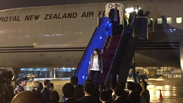 Prime Minister Jacinda Ardern has touched down in Vietnam ahead of a TPP ministers meeting