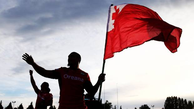 Celebrations and arrests follow Tonga's historic league win
