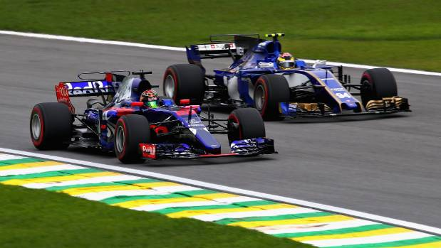 Brendon Hartley at the Brazilian Grand Prix""