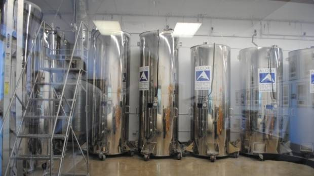 """""""Cryostats"""" at KrioRus's facility outside Moscow."""
